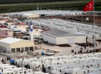 ANADOLU  AGENCY HAD OBSERVED CONTAINER CITY BY HELICOPTER. THE CITY HAS BEEN ESTABLISHED IN KILIS TO HOST SYRIAN REFUGEES WHO ESCAPED  TURKEY BECAUSE OF THE BAD LIFE CONDITIONS IN SYRIA. FIRSTLY, THE CONTAINER CITIES SETTLED IN THE ALTINOZU AND REYHANLI, THE TWO SMALL TOWNS OF HATAY, AND THEN MOVED TO KILIS. IT HAS BEEN OBSERVED THAT REFUGEES GET USED TO LIVE WITH THEIR NEW LIFE CONDITIONS.  (ANADOLU AJANSI - ADEM YILMAZ) (20120410)