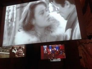 """Biennale Architettura - Monditalia alle Corderie dell'Arsenale di Venezia: Su uno degli schermi, """"Rocco e i suoi fratelli"""" di Visconti"""