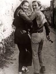Pier Paolo Pasolini con Maria Callas a Napoli nel 1970